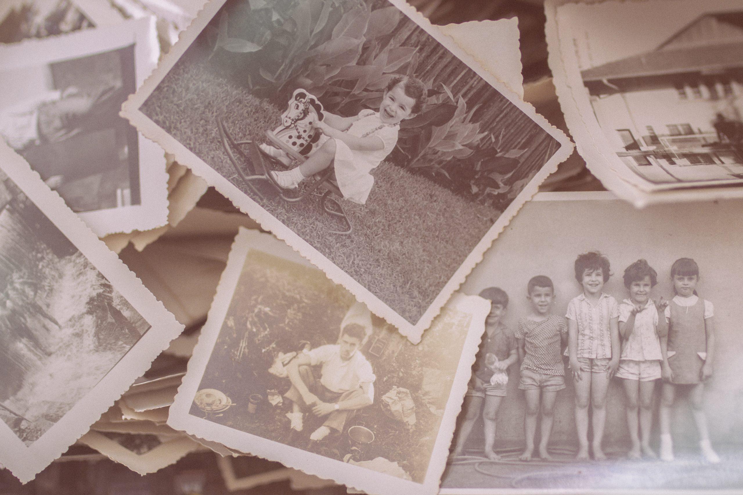 תמונות של זכרונות בשחור לבן
